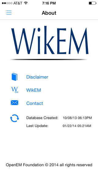 WikEM Mobile App - Editors Pick!